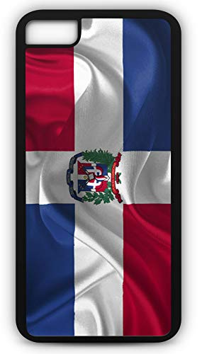 iPhone 8 Case Dominican Republic Flag Country American Nation Customizable by TYD Designs in Black Plastic Black Rubber Tough Case