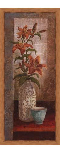 (Poster Palooza Framed Spiced Jewels I - Mini- 8x20 Inches - Art Print (Honey Pecan Frame))