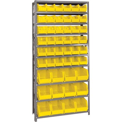 Quantum Storage Yellow Shelf (Quantum Storage Systems QSBU-230240YL Giant Open Hopper Steel Shelving System, 12