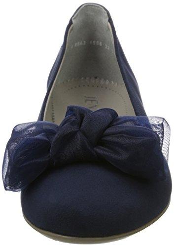 Mujer Pisa Jenny Azul para con Punta Cerrada Bailarinas Blau UA7wU
