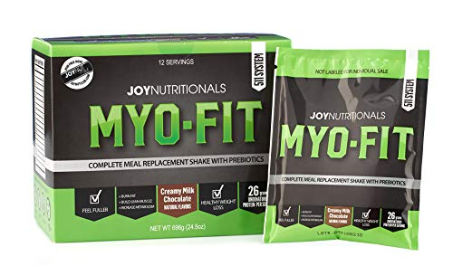 MYO-FIT Meal Replacement | Whey Protein Shake Powder | Great for Weight Loss & Lean Muscle Building | Keto Friendly | All Natural | W/Prebiotics & Dietary Fiber | 26g Protein (Milk Chocolate)