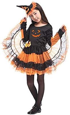 Vestido de Fiesta de Halloween para niñas Disfraz de Bruja de ...
