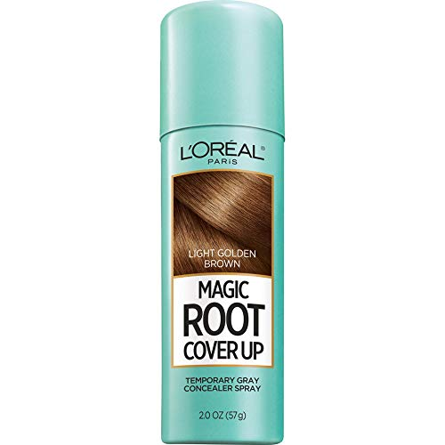 (L'Oreal Paris Magic Root Cover Up Gray Concealer Spray Light Golden Brown 2 oz.(Packaging May)