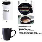 5-Pack Coffee Mug Lid, KSENDALO Thick Eco