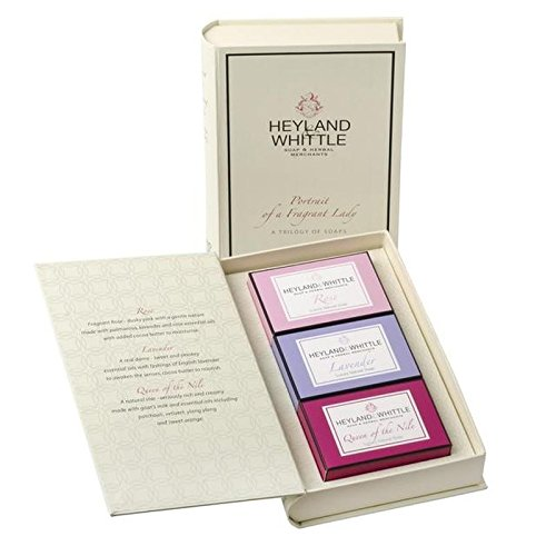 Heyland & Whittle Soap Book, Portrait of a Fragrant Lady (PACK OF 4) by Heyland & Whittle