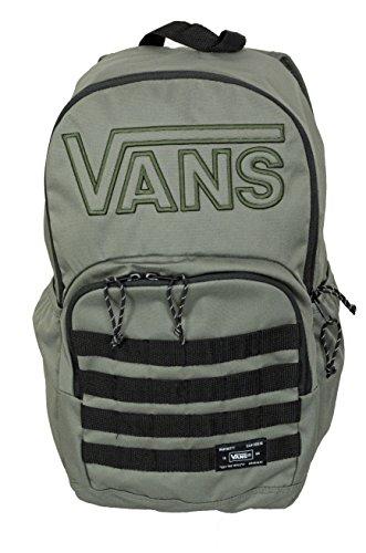 Vans 2016 University SkatePack Mens Black/Olive Backpack (Pack Black Olive)
