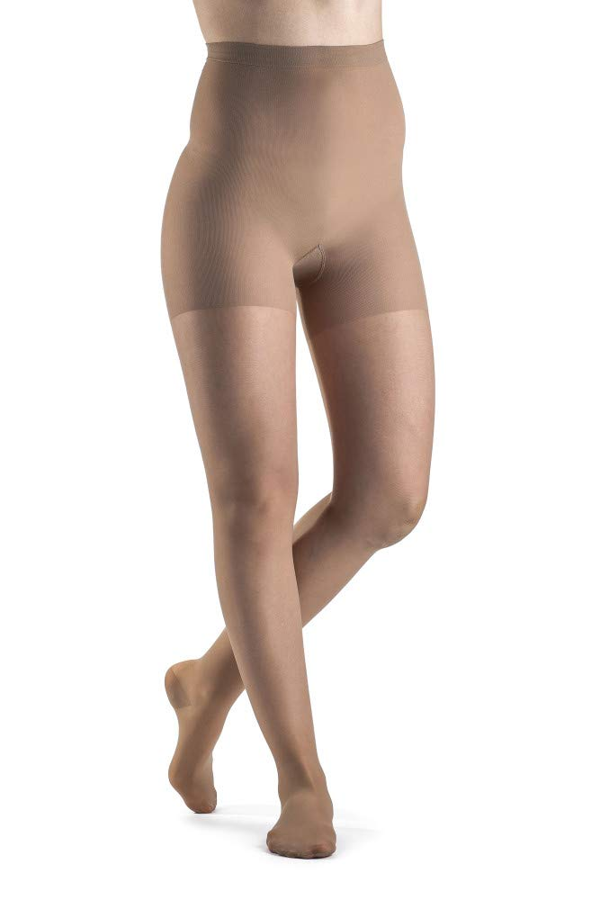 SIGVARIS Women's Sheer Fashion 120 Closed Toe Compression Pantyhose 15-20mmHg by Sigvaris