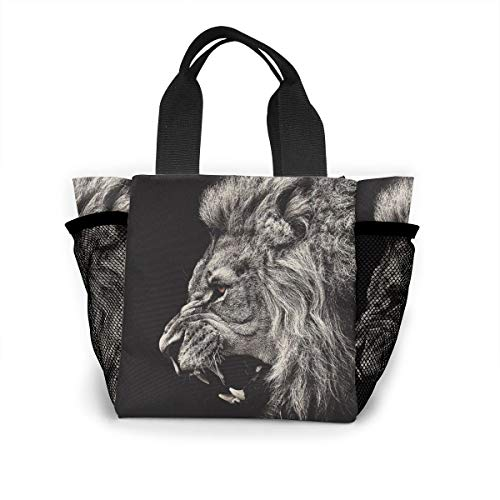 Insulated Lunch Bag For Women Lion Paint, Classic Tote Box For School