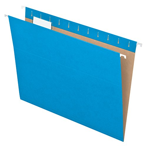 Pendaflex Recycled Hanging Folders, Letter Size, Blue, 1/5 Cut, 25/BX (81603) ()