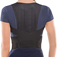 Comfort Posture Corrector Brace – Back/Shoulder Support - X-Large, Waist/Belly 101 - 110 cm Black