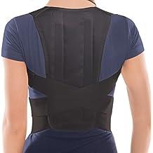 TOROS-GROUP Comfort Posture Corrector Brace – Back/Shoulder Support - Small, Waist/Belly 71 - 80 cm Black