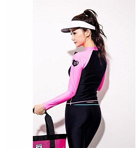 Ropa De Buceo / Protección Dividida Al Aire Libre Ropa De Surf Y Trajes De Baño De Sol Protección De Calentamiento Rápido Pink
