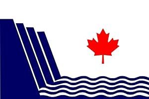 magFlags Large Flag En Scarborough, Ontario, drawn in | landscape flag | 1.35m² | 14.5sqft | 90x150cm | 3x5ft - 100% Made in Germany - long lasting outdoor flag