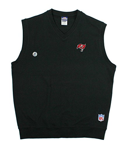 NFL Reebok Mens Tampa Bay Buccaneers Casual Vest, (Reebok Nfl Tampa Bay)