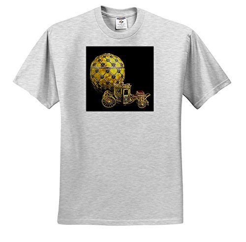 3dRose Faberge Eggs - Picturing Faberge Egg Coronation - T-Shirts - Adult Birch-Gray-T-Shirt Large (ts_568_20)