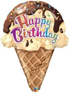 ice cream cone mylar balloon - 2