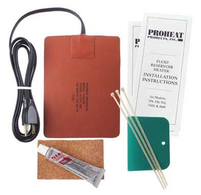 Proheat Heavy Duty Fluid Reservoir Heater Model 1325-220 (500 Watts, 2.1 Amp, 220 Volts) Ideal for Oil Pans from 3 to 6 Gallons of Lube (12 to 25 Litres) and from 20 to 50 Gallons of Hydraulic Oil (Electric Oil Drain Pan compare prices)