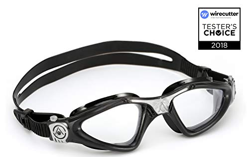 - Aqua Sphere Kayenne Swim Goggles with Clear Lens (Black/Silver)