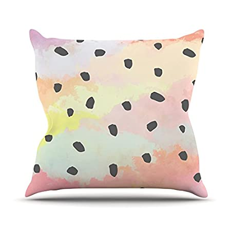 Pastel Painting 20 by 20 Kess InHouse Strawberringo with Dots Throw Pillow