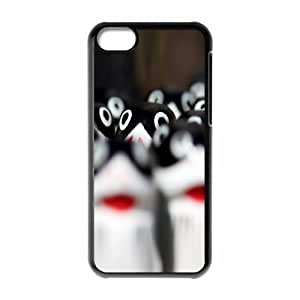Vety Hiding in the Crowd IPhone 5C Cases, Cute Case for Iphone 5c for Girls {Black}