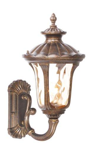 livex lighting 7652–50al aire última intervensión lámpara de pared con pantallas de vidrio soplado a mano ámbar...