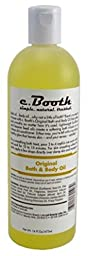 C.Booth Original Bath & Body Oil 16oz (2 Pack)