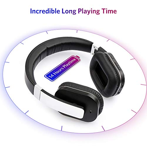 f919e29a3f2 Bluetooth Headphones ARCHEER AH07 Wireless Headphone Foldable Over Ear  Headphones with Microphone, AptX Stereo Sound Headset for Travel Work TV  Computer ...