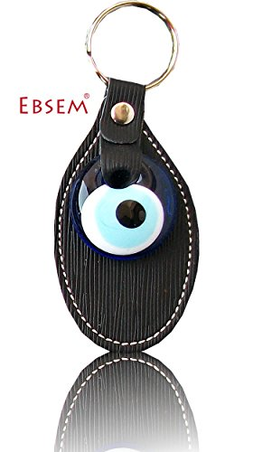 evil-eye-keychain-keyrings-syntetic-leather-decorative-turkish-greek-jewish-christian-handmade-ornam