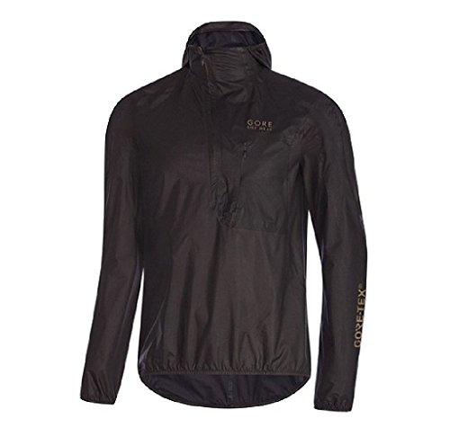 Gore Bike Wear Men's Hooded Cycling Jacket, Waterproof, GORE-TEX Active SHAKEDRY Product Technology, ONE RESCUE GORE-TEX SHAKEDRY Jacket, Size: XL, Black, (1 Gore Tex Jacket)