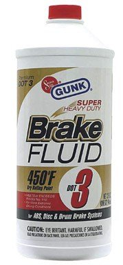 Gunk M4334 1 Gallon Super Heavy Duty Dot 3 Brake Fluid by Gunk