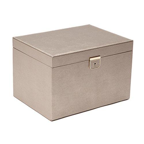 - WOLF Palermo Large Jewelry Box, 8.5x11.5x7.5, Pewter