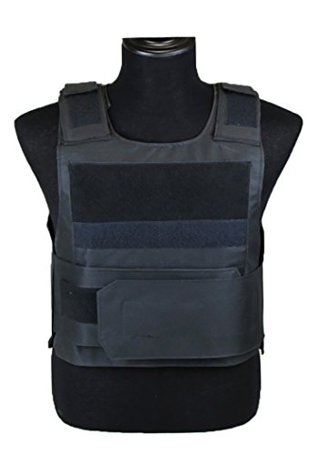 ThreeH Outdoor Tactical Vest Training Protective Gilet Adjustable Airsoft Paintball Vest(Medium Size)