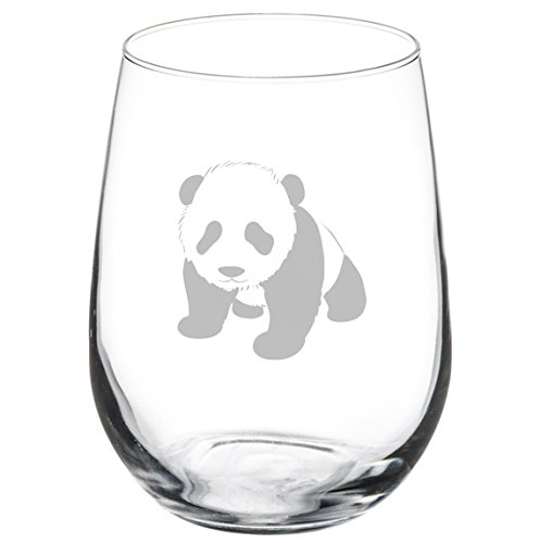 Wine Glass Goblet Baby Panda (17 oz - Glass Panda