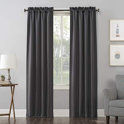 Sun Zero Easton Blackout Rod Pocket Curtain Panel, 40