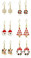 Miraculous Garden 9 Pairs Christmas Drop Dangle Earrings Jewelry Set for Thanksgiving
