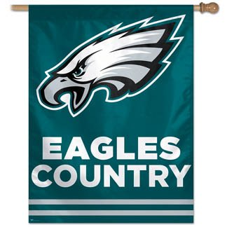 Philadelphia Eagles Official NFL 27''x27'' Banner Flag by Wincraft by WinCraft