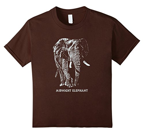 Kids Midnight Elephant T Shirt For Elephant Lovers 10 Brown