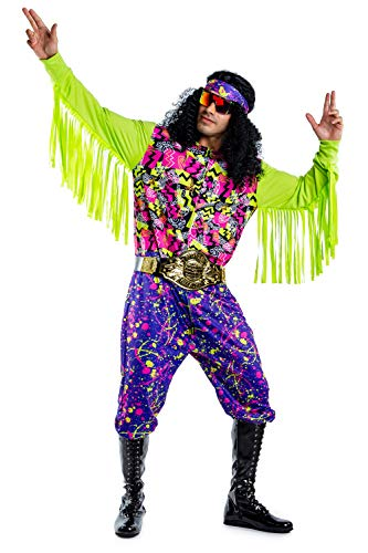 Tipsy Elves Men's Funny Macho Wrestler Halloween Costume - Savage Wrestler Onesie: