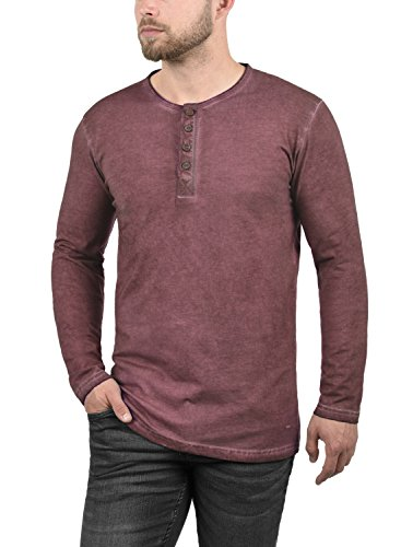 Timur À 100 Manches solid Tunisien Longues Red 0985 Pour Homme T Coton shirt Wine aqwIIWdS