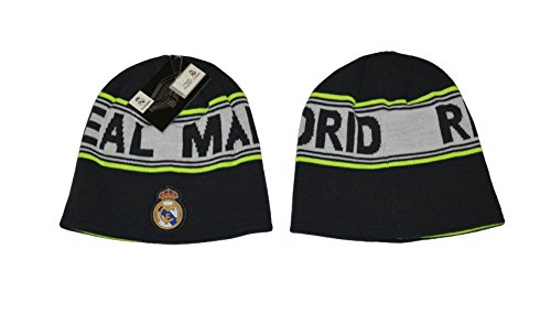 Real Madrid Beanie Reversible Skull Cap Hat Neon Blue New Season 2015-2016 (Gray)