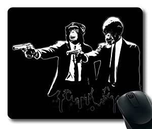 """Divine Monkey Intervention - Pulp Fiction Game Mouse Pad PC Computer Gaming Mousepad Fabric + Rubber Rectangle Mousepad in 220mm*180mm*3mm (9""""*7"""") -WS82328"""