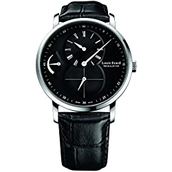 Louis Erard Excellence Collection Mechanical hand winding Black Dial Men's Watch 54230AA02.BDC29