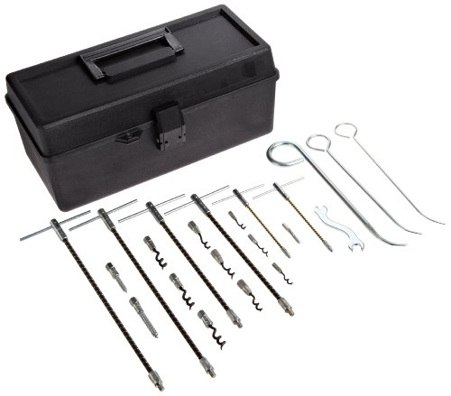Palmetto 1117 Packing Extractor Set, Includes: (2) model 1101, (2) 1102, (2) 1103, (1) 1107, (1) 1108, (1) 1109, (1) 1110, (1) 1111, (1) 1112, (1) 1113, (1) 1114, (1) 1115, (1) wrench, (1) toolbox - Packing Extractor Tool