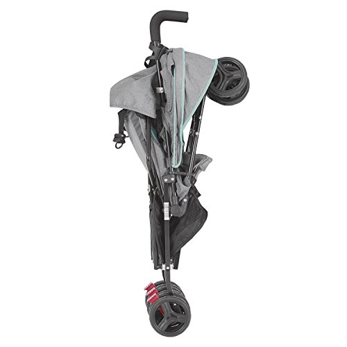 41sgcX9fk6L - Dream On Me Volgo Twin Umbrella Stroller, Mint/Dark Grey