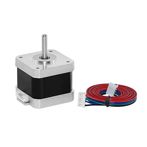 Universal Electric Motor - 38mm 17HS4401 High Torque Bipolar Stepper Motor Nema 17, 0.46Nm Low Noise 42 DC Step Motor Kit, 1.8°2-Phrase Universal Electric Motor DC motor for 3D Printer Laser Engraving (40mm)