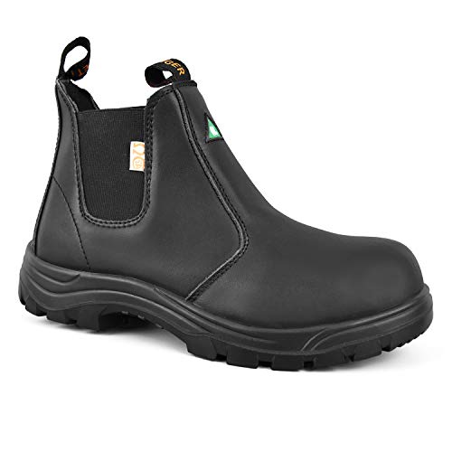 the latest 669d1 6e627 TIGER SAFETY MEN'S LIGHTWEIGHT CSA LEATHER WORK SAFETY BOOTS - 5925 (10.5  3E US MEN, Black)