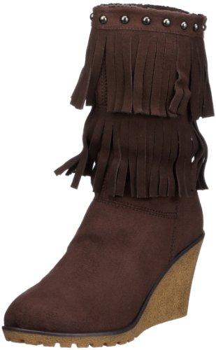 Colors of California Zeppa in Gomma con Frange HC.FW04 Damen Fashion Stiefel Braun (BRO)
