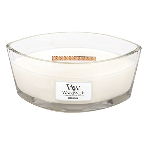 Spring Crackle Glass - WoodWick Crackles As It Burns Fragrance HearthWick Flame Candle, Magnolia