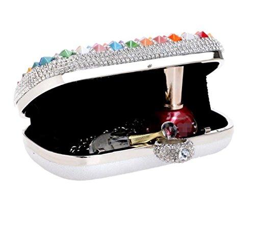 Main Main À Antique Mariage Soirée De Sac Multicolore Paillettes Clubs À Cadeau Party Dames Sac Diamante À Femmes Enveloppe Nuptiale Bandoulière Pour Prom Pochette Sac Evxt0