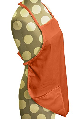 Tangerine Bath Kit - ObviousChef Kids -Child's Chef Hat Apron Set, Kids Size, Children's Kitchen Cooking and Baking Wear Kit for those Chefs in Training, Size (M 6-12 Year, Tangerine)